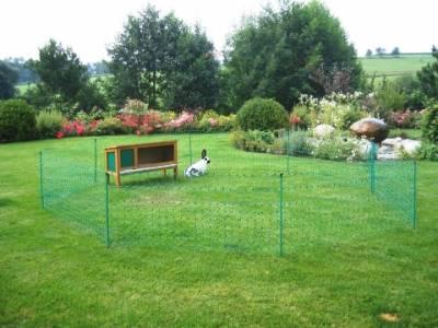 kaninchen zaun oder kaninchennetz 12 m gr n. Black Bedroom Furniture Sets. Home Design Ideas